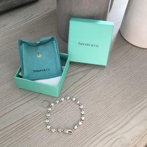 Tiffany & Co. Sterling Silver Hearts Link Bracelet